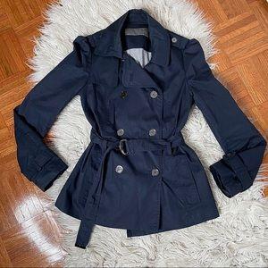 ZARA raincoat/trench in navy blue S
